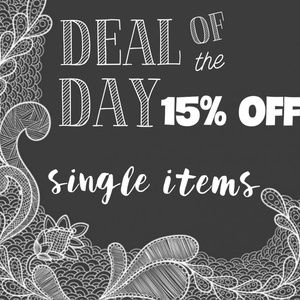 DEAL OF THE DAY - 15% OFF Single Items!